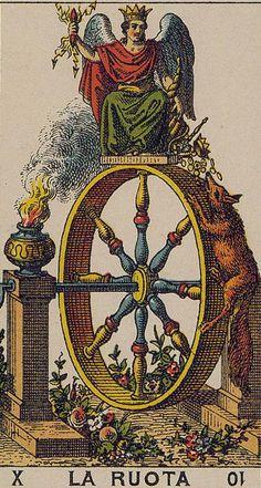 The Wheel (Wheel of Fortune) - Ancient Italian Tarot