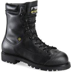 Black Full Grain Leather Upper. Steel Safety Toe Cap. GORE-TEX Breathable Waterproof Membrane.