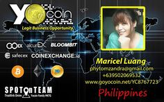 Welcome to Yocoin International  SPOTonTEAM  Maricel Luang   Well done GO GO Solaire