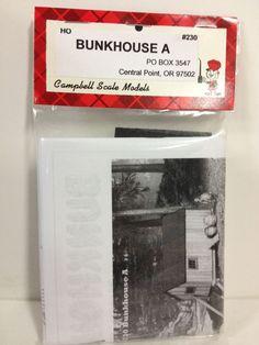 CAMPBELL SCALE MODELS Bunkhouse A Craftsman Building Kit 1/87 HO Scale NEW #230 #CampbellScaleModels