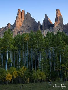 Pinnacles along Mill Creek near Gunnison--Colorado