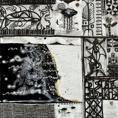 John Pule Indigo, Black And Grey, Paintings, Shopping, Art, Craft Art, Painting Art, Kunst, Painting