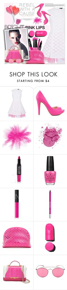 """Bright Pink Lipstick"" by sweta-gupta ❤ liked on Polyvore featuring beauty, Alex Perry, Jessica Simpson, OPI, NARS Cosmetics, Urban Decay, Loeffler Randall, Chanel, Khirma Eliazov and Mykita"