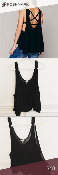 Free People Free Swing Tank in Black Intimately Free People Free Swing Cami in black. Excellent condition. Perfect tank to pair with a cute bralette. Size small. Free People Tops