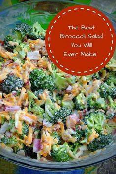 This Broccoli Salad recipe is a perfect addition to any meal. The dressing is delicious, and its very easy to make! This Broccoli Salad recipe is a perfect addition to any meal. The dressing is delicious, and its very easy to make! Clean Eating, Healthy Eating, Cooking Recipes, Healthy Recipes, Keto Recipes, Side Salad Recipes, Pasta Salad Recipes Cold, Dinner Recipes, Church Potluck Recipes