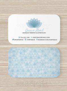Spa Massage Therapist Esthetician Business card by YnobeDesigns