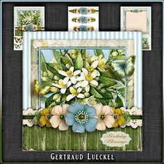 Vintage Flowers Card Kit 1049 on Craftsuprint - View Now!