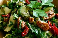 High Raw Creamy Kale Salad with Nutrient-packed Ingredients!