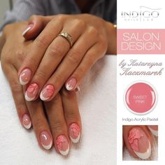 Indigo Nails New Items at www.indigo-nails.com #nails #nailart #flower Follow us on pinterest for more inspiration