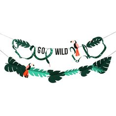 Go wild garland// Toucan party garland// Birthday Boy // Wall Decoration// Birthday Party// Animal Jungle party// Safari party decoration Party Animals, Animal Party, Safari Jungle, Jungle Party, Safari Theme Party, Safari Party Decorations, Party Themes, Party Girlande, Sweet Party