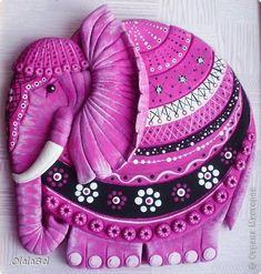 Поделка изделие Лепка Жил-был на свете розовый слон Тесто соленое Тесто соленое фото 1