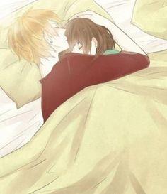 sleeping anime couple<3