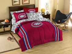 Montreal Canadiens NHL Bed in a Bag (Twin) xyz Montreal Canadiens, Twin Comforter, Bedding Sets, Nhl, Bed Ensemble, Sports Bedding, Nfl Carolina Panthers, Bed In A Bag, Cincinnati Bengals