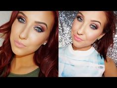 Reddish Champagne Eye with pop of Blue -- Spring Time Smokey Eye ♡ Pop Of Blue | Jaclyn Hill - YouTube