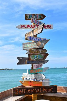 - by Srathardforlife - Major Key West Alert! Where to Eat in Key West: Sunset Pier. Cool sign with miles to other destinations in the world Summer Wallpaper, Beach Wallpaper, Colorful Wallpaper, Flower Wallpaper, Mobile Wallpaper, Beach Aesthetic, Summer Aesthetic, Photo Wall Collage, Picture Wall