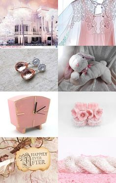 PINK BLUSH by Vickie Wade on #Etsy #pink #pastel #dreamy #romantic #bunny #rabbit #white #soft #cute #cuddly #stuffedanimals #handmade #weddingfavors #wedding #engagement #vintage #clock #lingerie #gown #victorian #home #house #photography #fineart #teardrop #earrings #BananaFibreYarn #babybooties #handknit