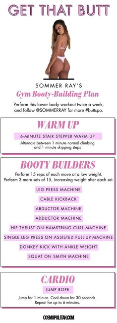 Bubble Butt Workout - Learn About These Ideas To Attain Proper Fitness Motivation Poster, Fitness Motivation, Fit Girl Motivation, Fitness Goals, Fitness Tips, Fitness Exercises, Aerobic Exercises, Glute Workouts, Yoga Fitness
