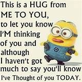 Minions are cute, Adorable and Funny ! Just like Minions, There memes are also extremely hilarious . So here are some very funny and cool minions memes, they will sure leave you laughing for a whi… Funny Minion Pictures, Funny Minion Memes, Minions Quotes, Funny Humor, Minion Love Quotes, Minion Sayings, Funny Pics, Thinking Of You Today, Thinking Of You Quotes