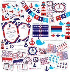 Nautical Baby Shower invitation Nautical invitation by DellaEvents