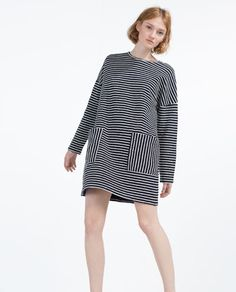 Image 1 of DRESS WITH FRONT POCKETS from Zara