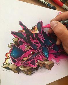 Graffiti Wall Art, Street Art Graffiti, Graffiti Artists, Graffiti Lettering Alphabet, Graffiti Writing, Graffiti Wildstyle, Graffiti Pictures, Graffiti Characters, Design Inspiration