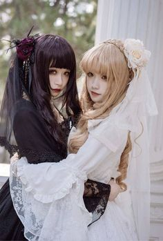 [-⌚⌚⌚-The Last 6 Hours-⌚⌚⌚-] >>> http://www.my-lolita-dress.com/zj-story-black-angel-white-angel-gothic-lolita-op-dress-zjs-3