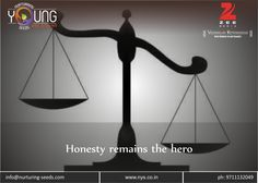 """Honesty remains the hero !!! They say that """"Honesty is the best policy"""". Well it is not just a true saying but an undeniable universal fact. You must be #honest with others in order to have a #personality that which could change..... Read more at: http://bit.ly/2k7YhZ3"""