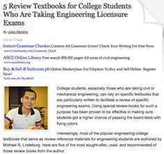5 Review Textbooks for College Students Who Are Taking Engineering Licensure Exams