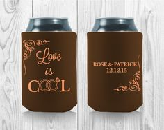 Wedding Koozies, Unique Wedding Gifts, Love Rose, Touch, Templates, Cool Stuff, Free, Stencils, Western Food