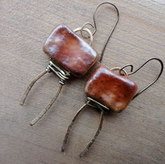 Love My Art Jewelry: From Kiln to Design...Could make a two holed bead in polymer..