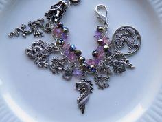 Game of Thrones Bracelet Dragon Charm Bracelet Daenerys Dragon Flower Garden Game of Thrones Jewelry Steampunk Larp. $34.99 USD, via Etsy.