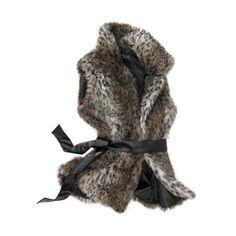 Women's Faux Fur Belted Vest