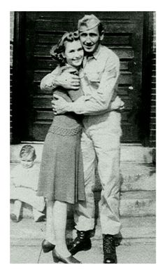WWII soldier comes home. Ernest and Helen King.