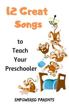 Teach your kids these fun, all-time favourite action rhymes, finger plays and number songs and build their auditory perception and motor skills. Print the free Activity Pack to get a copy of the words. Preschool Music, Preschool Learning, Teaching, Early Learning, Number Song, Songs For Toddlers, Action Songs, Finger Plays, Elementary Music