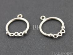 Sterling Silver Small Baby 12mm Hoop Ring Finding by Beadspoint, $7.99