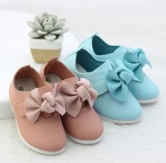 2014 autumn new arrival kids girls PU flat with soft leather shoes bow surface soft bottom baby shoes sweet princess shoes $22.99