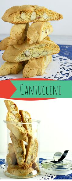 Cantuccini or Almond Biscotti are a traditional almond biscuits from Italy. They are baked twice, first as a long loaves and are then sliced into smaller diagonal pieces which are then baked the second time making them hard and crunchy but also enabling them to last a long time, well maybe not at our place ;-)!  www.foxyfolksy.com