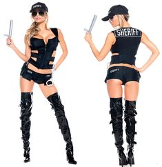 Sheriff Sexy Adult Women Costume Extra 20% off discount! Get this Halloween costume and all Halloween products found in the Social Media Exclusive section for an extra 20% off with code use. CODE: SLASHER2012 EXPIRES: October 27th VISIT: http://www.trendyhalloween.com/social-media-exclusives-C398.aspx?afid=15
