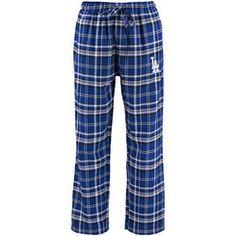 L.A. Dodgers Concepts Sport Bleacher Plaid Flannel Pants - Royal/Black