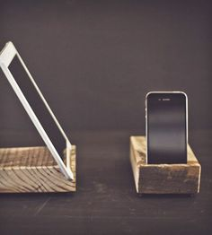 Pine iPhone and iPad Kick Stands from Lamon Luther