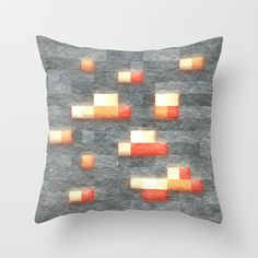 Minecraft Redstone Block Throw Pillow