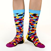 Rise luxury combed cotton crew socks in dawn. Made by Ballonet