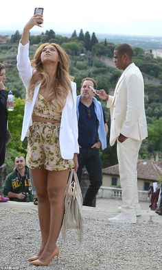 Paparazzi in the making: Beyonce took endless pictures throughout their sight-seeing trip...