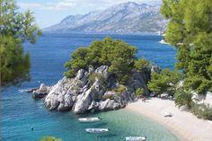 Hf Holidays Guided Walking Croatia Dalmatian Coast Baska Voda Coast at Brela