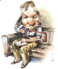 Any new collection of drawings from John Cuneo is a cause for celebration.   Cuneo's newest book from Fantagraphics,  Not Waving But Dra...