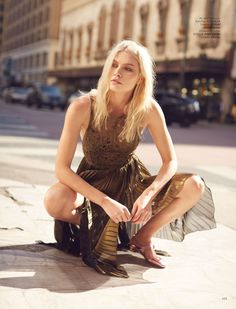 Harper's Bazaar Kazakhstan April 2017 Aline Weber by Chloe Mallett