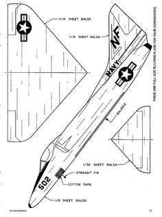 The A-4 Skyhawk-FM-12-72 is one of the model airplane plans available for download and printing.