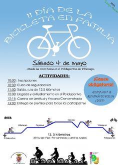 4 de Mayo. Villarcayo  III Día de la bicicleta en familia En el Polideportivo Municipal a partir de las 10:00h