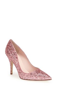 610483dead9 Absolutely adore these rose pink glitter pumps. Pumps Rose