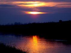Spegling av solnedgången.